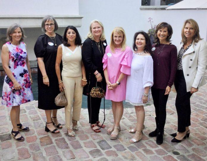 Photo courtesy of Pasadena Guild of CHLA Trisha MacLaren (left), Karen Wicke, Colony Abbott, Leigh Olivar, Mary Hatton, Mary Schammel, Cynthy Moffatt and Melissa Eaves are new members of the Pasadena Guild of Children's Hospital Los Angeles.